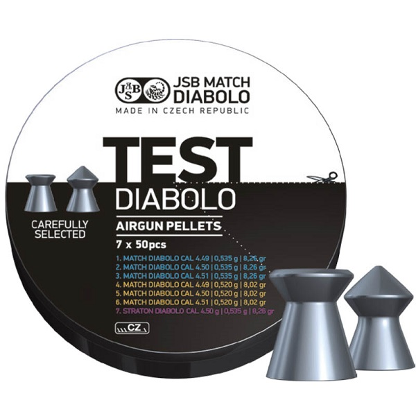 Diabolky JSB Match Diabolo Test Middle Weight 4,5mm 350ks