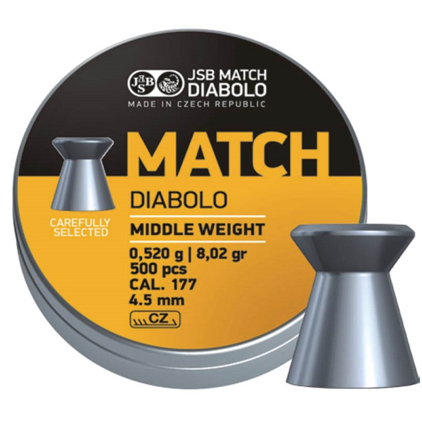 Diabolky JSB Match Middle weight 4,49mm 500ks