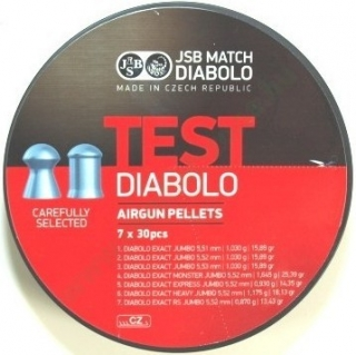 Diabolky JSB Test Exact Jumbo 5,5mm 210ks