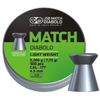 Diabolky JSB Green Match Diabolo Light Weight 4,51mm 500ks